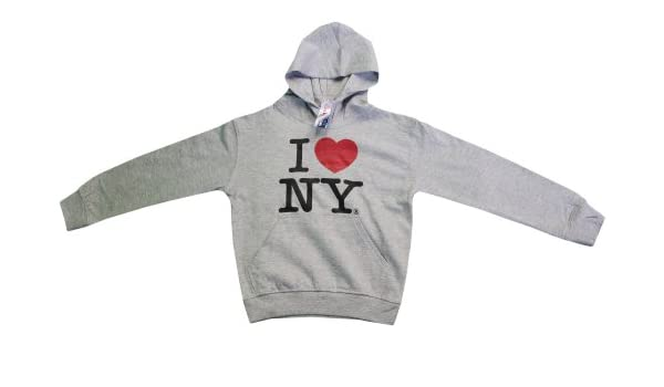 I Love Ny de Nueva York sudadera con capucha de impresión corazón sudadera Gray: Amazon.es: Ropa y accesorios