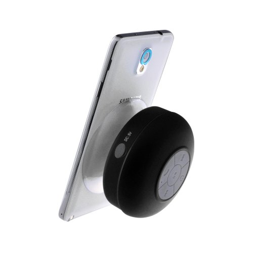 Ecandy Bluetooth Wireless Waterproof Shower Speaker: Black,water Proof Bluetooth 3.0 Speaker, Mini Water Resistant Wireless Shower Speaker