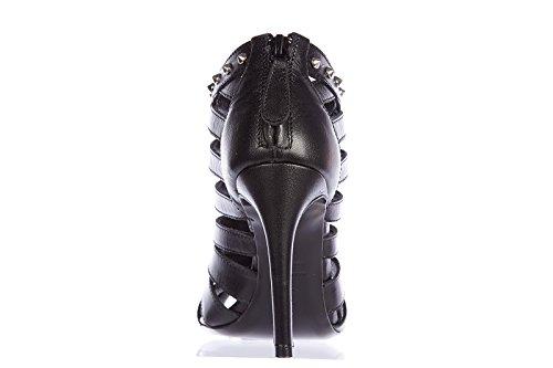 Alexander McQueen sandalias de tacón mujer en piel nuevo bond stund negro