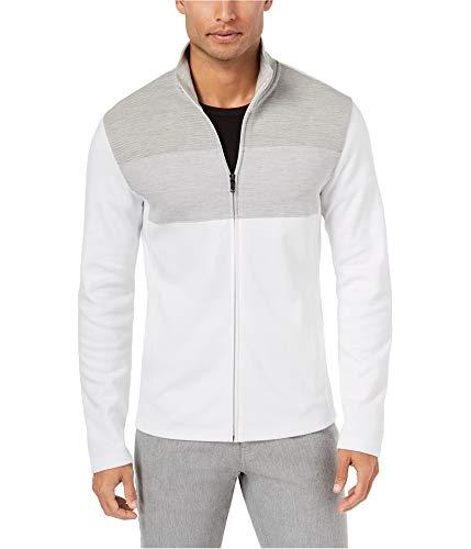 (Alfani Men's Colorblocked Full-Zip Jacket (Bright White,)