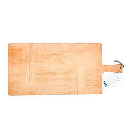 """Chloe and Cotton Large Rectangular Pine Wood Bread Board 22.5"""" inch 