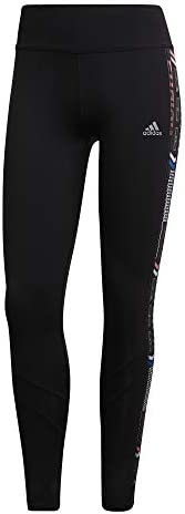 adidas OWN The Run TGT Collants Femme, Black/Semi Flash Red/Team Royal Blue, FR : L (Taille Fabricant : L)