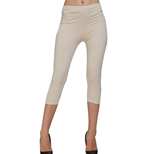 Stretch Cotton Capri Crop Leggings Tights 31HLbZpgxoL