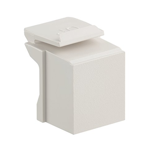 Leviton 41084-BT Blank QuickPort Insert, 10-Pack, Light Almond ()