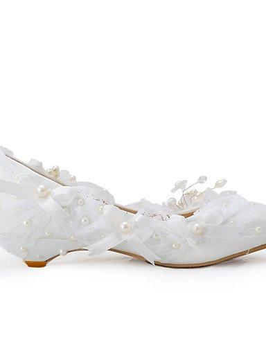 GGX/ Damen-Hochzeitsschuhe-Wedges-High Heels-Hochzeit / Kleid / Party & Festivität-Weiß under 1in-us8 / eu39 / uk6 / cn39