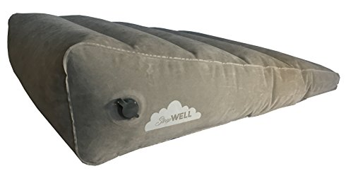 Inflatable Portable Bed Wedge With Quick Inflate/Deflate Valve and Soft Surface