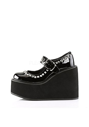 Demonia Womens Swing 03 Synthetic Mary Janes Black Patent