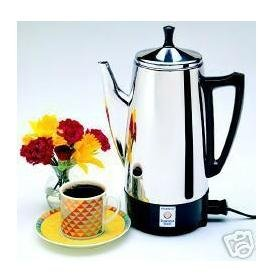 New Presto 12 Cup Stainless Steel Perk Brews Great Tasting Coffee Rich Hot And Fast Easy Cleaning by Presto