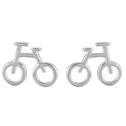 925 Silver Vintage Jewelry Bike Stud Earrings Small Retro Bicycle Earrings For Women