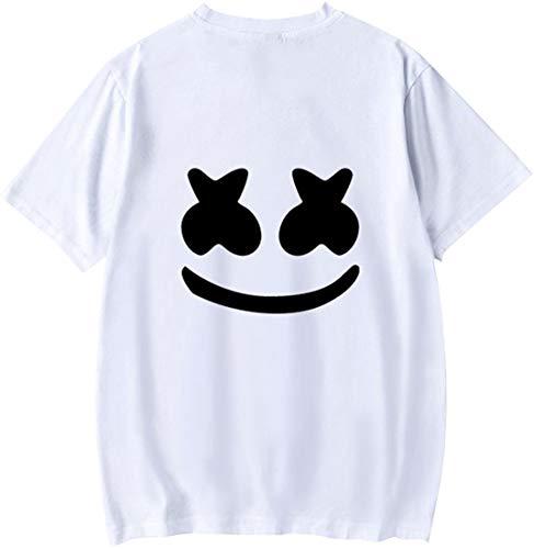 shirt Edm Marshmello Top Emilyle Blanc Courtes 2 À Homme Uni Dj D'été Fans T Manches Smile SOBCCwExFq