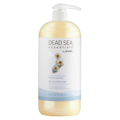 Ahava Gel Cleanser (Dead Sea Essentials by AHAVA Soothing Chamomile Head-to-Toe Wash, 32)