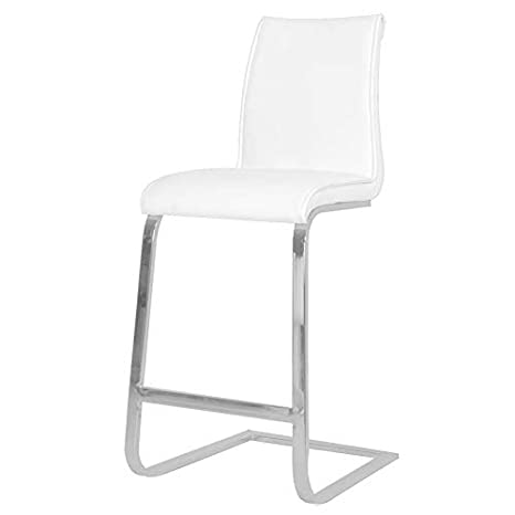 Astonishing Amazon Com Maklaine 26 Counter Stool In White Synthetic Andrewgaddart Wooden Chair Designs For Living Room Andrewgaddartcom