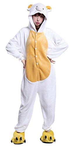 MizHome Kigurumi Pajama One-Piece Halloween Cosplay Costume Nightwear Sheep L