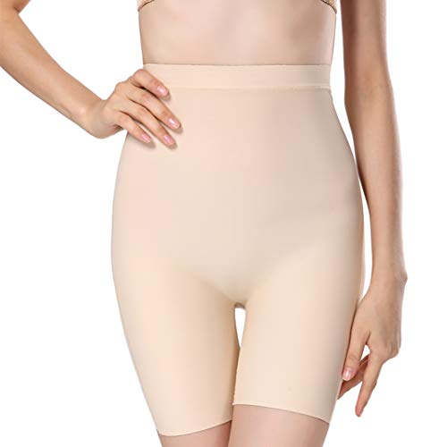AVENBER Women High Waist Body Shaper Panties Tummy Slimming Control Pants Girdle Seamless Underwear Beige (Tips To Reduce Stomach Fat At Home)