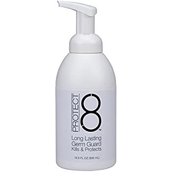 Protect 8 16 9 oz Foaming Hand Sanitizer and Germ Guard—Alcohol-free,  unscented, gentle on skin, kills
