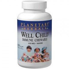 Планетарные Herbals за ребенком Иммунная жевательные Вафли, 30 граф