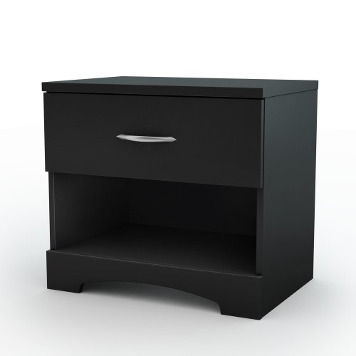 Amazon.com: South Shore Step One Night Stand, Pure Black: Kitchen U0026 Dining