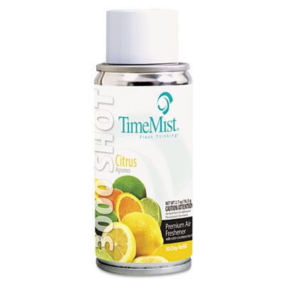 TimeMist 336308TMCA 3000 Shot Refill Citrus Metered Air Freshener (Pack of 12) by Timemist