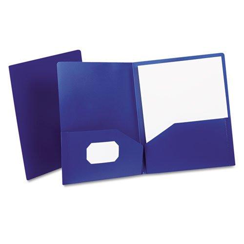 Oxford - Poly Twin-Pocket Folder, Holds 100 Sheets, Opaque Dark Blue 57402 (DMi EA