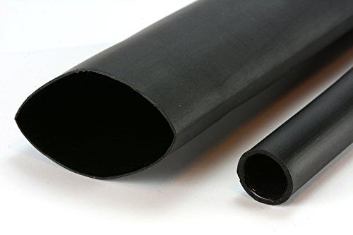 TEMCo 2 Marine Heat Shrink Tube 3:1 Adhesive Glue Lined 4 ft BLACK