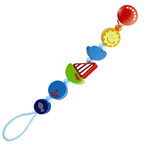 HABA Ship Ahoy Wooden Pacifier Chain (Made in Germany) ()