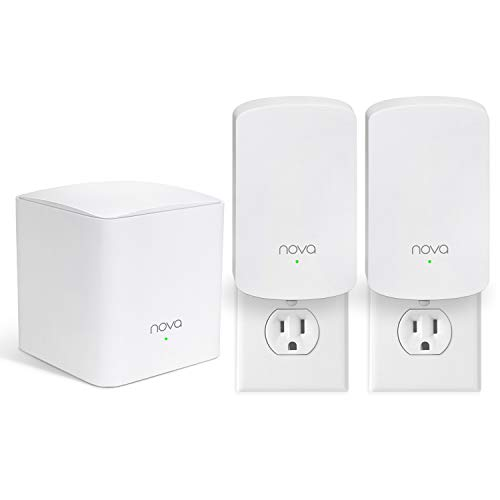 Tenda Nova Whole Home Mesh WiFi System - Replaces Gigabit AC WiFi Router and Extenders, Dual Band, Works with Amazon Alexa, Built for Smart Home, Up to 3, 500 Sq. ft. Coverage (MW5 3-PK).
