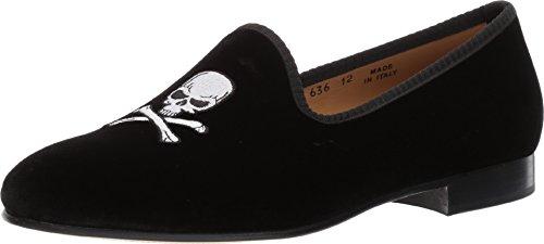 Del Toro Black Velvet Slipper with Skull & Bone (7)
