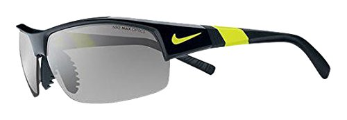 Nike Show X2 Sunglasses, Black/Voltage, Grey with Silver Flash/Outdoor Lens by NIKE