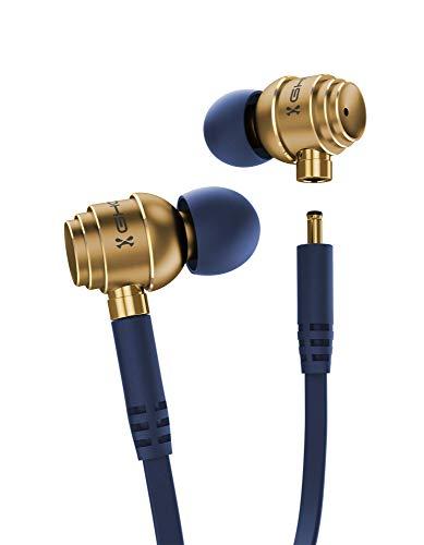 Ghostek Headphones IPX7 Water Resistant Wireless Bluetooth Earbuds (Blue/Gold)