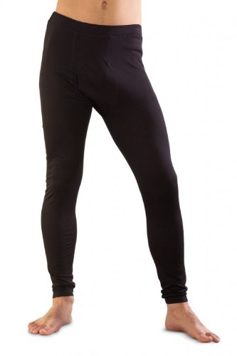 Seda/lana de merino/algodón pantalones largos para hombres Negro negro Small