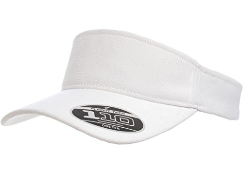 Flex Fit Visor - Flexfit One Ten Visor – Adjustable – 8110 (White)