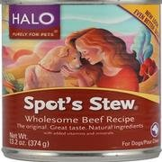 Halo, Dog Food Spots Stew Wholesome Beef, 13.2 Ounce