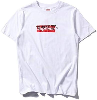 0bdb15faa837 Supreme Anti-Flash White Round Neck T-Shirt For Unisex: Amazon.ae ...