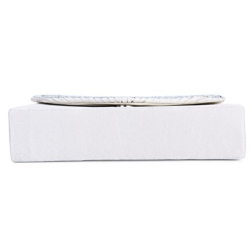 Lifewish Cascading Faux Clutch Fashion Evening Bead Purse Rhinestone Womens White Pearl rqTwr6g