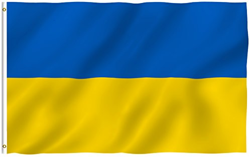ANLEY [Fly Breeze] 3x5 Foot Ukraine Flag - Vivid Color and UV Fade Resistant - Canvas Header and Double Stitched - Ukrainian National Flags Polyester with Brass Grommets 3 X 5 Ft