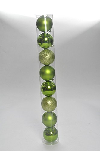 Bola De Natal P/ Árvore Brilho Glitter 5Cm C/ 8 Pçs Verde