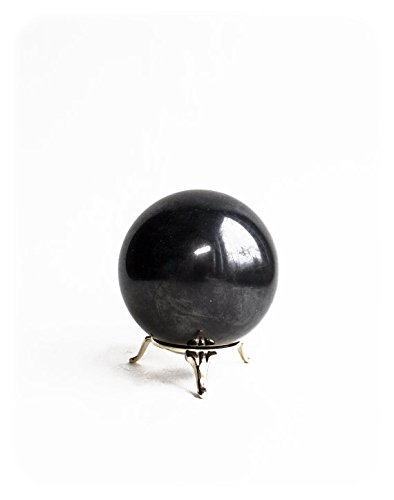 SHUNGITE SPHERE THE STONE OF LIFE- 70MM Polished (Polished Spheres)
