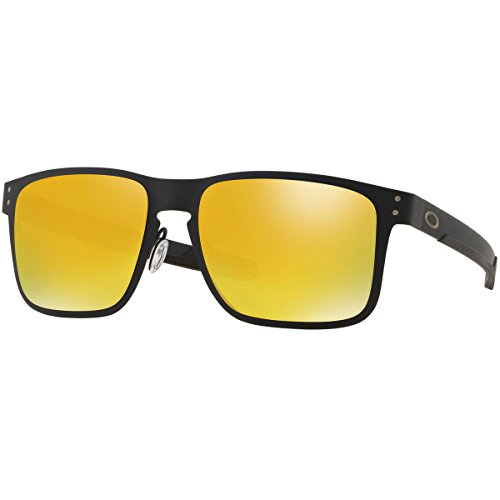 Oakley Men's Holbrook Metal Polarized Iridium Square Sunglasses, Matte Black, 55.0 - Holbrook Metal Oakley Polarized