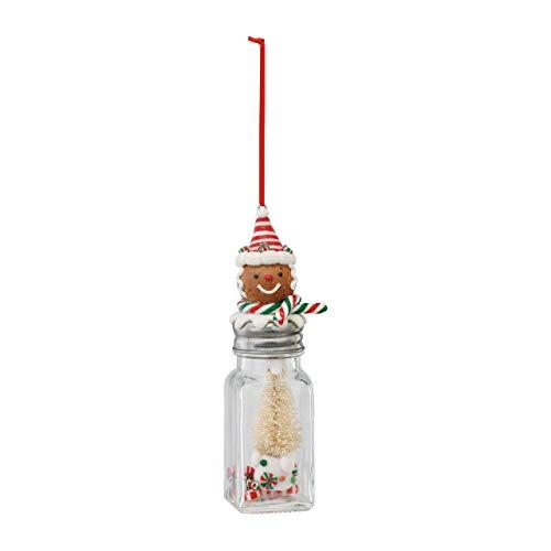 - DEMDACO Gingerbread Boy on Jar 2 x 6 Inch Glass Hanging Christmas Ornament