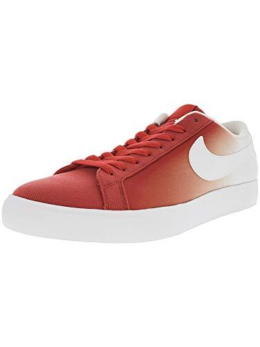 Nike Men's Sb Blazer Vapor Track Red/White Ankle-High Canvas Skateboarding Shoe - 12M