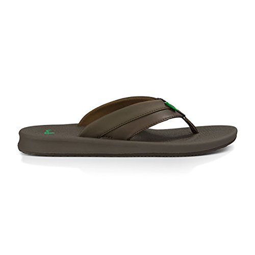Sanuk Men's Brumeister Flip-Flop, Brown, 12 M US ()