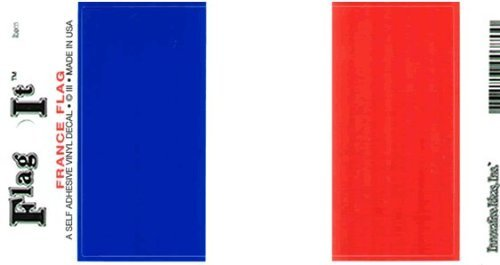 Vinyl Decal- France Flag Sticker (Flag Sticker French)