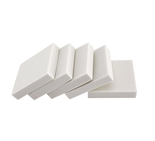 e-Craft Carving Rubber Block Stamps Printing - Like Rubber Material - 5 Pieces - White 9 Styles - 1.9×1.9×0.39 inches