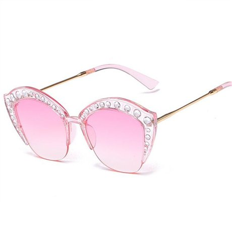 GGSSYY Moda Mujer Oversize Pearl Acetate Gafas de Sol Big ...
