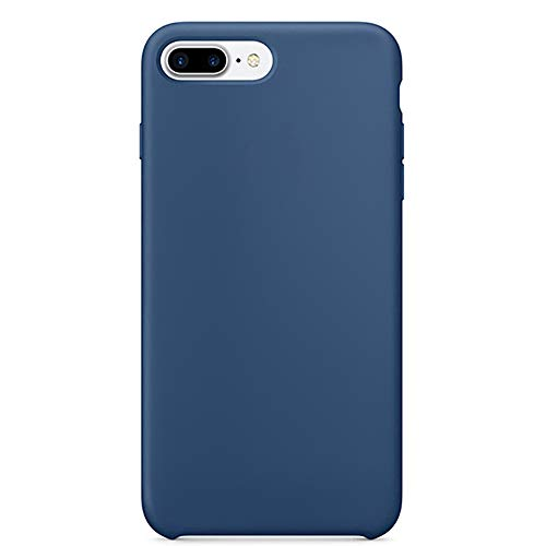 iPhone 8 Plus(5.5 inch) Zero Point Liquid Silicone case, Lined with Ultra-Fiber Flocking to Protect The Back of The Phone wear, Shock and Shock All-Round Protection of Mobile Phones (Blue Cobalt)