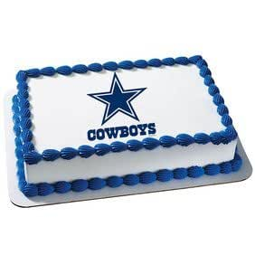Amazon Com Dallas Cowboys Licensed Edible Cake Topper