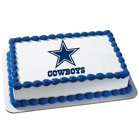 Amazoncom Dallas Cowboys Licensed Edible Cake Topper 4491