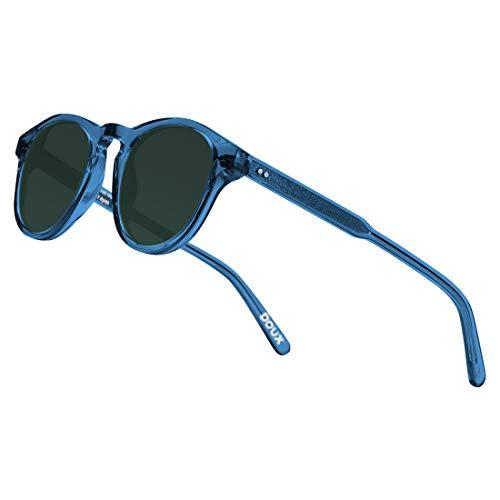8f913fac49419 DOUX Round Wayfarer Polarized Sunglasses Vintage Retro Eyewear for Men Women丨100%  UV400 Protection