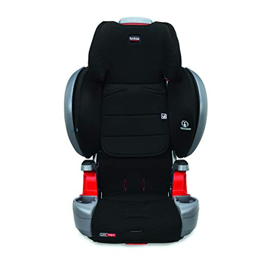 31HM5PZLTnL - Britax Grow With You ClickTight Plus Harness-2-Booster Car Seat | 3 Layer Impact Protection - 25 To 120 Pounds, Jet Safewash Fabric [New Version Of Pinnacle]