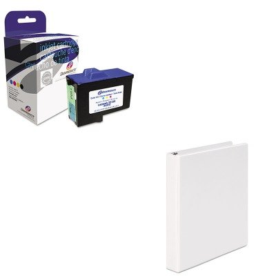 Dpcd7y745c Compatible Ink (KITDPSDPCD7Y745CUNV20962 - Value Kit - Dataproducts DPCD7Y745C Compatible Remanufactured Ink (DPSDPCD7Y745C) and Universal Round Ring Economy Vinyl View Binder (UNV20962))